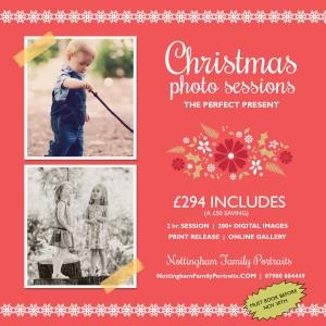 Nottingham family portraits Christmas offer